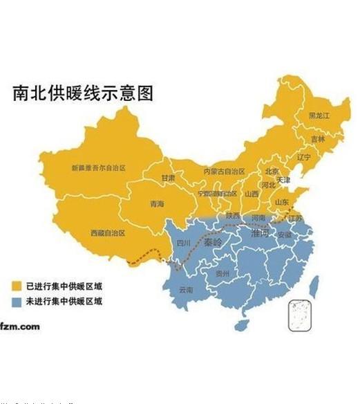 中国划分南方和北方的这条分界线是