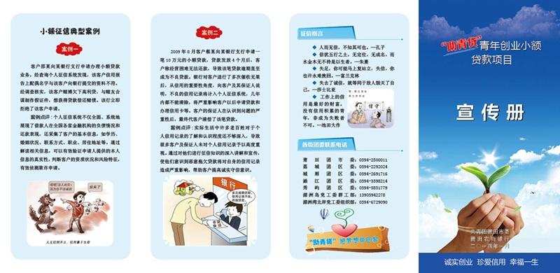 小额贷款项目宣传册