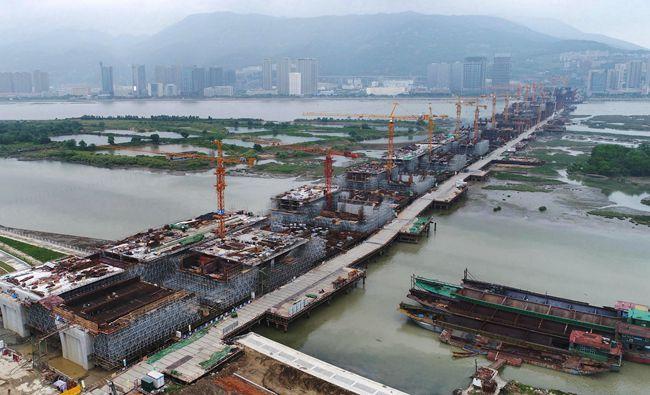 马尾大桥39个桥墩38个已完工 将全面转入桥梁上部结构施工