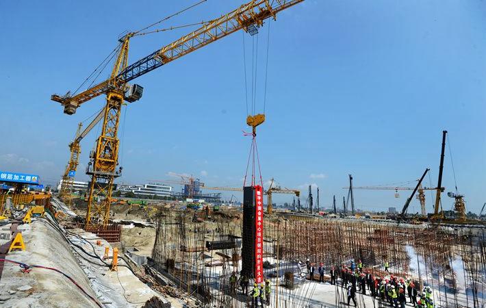 福州数字中国会展中心开始钢结构施工 力争2019年4月建成
