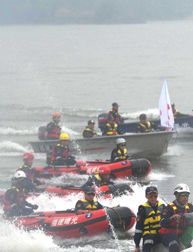 福州红十字会举行灾害应急救援演练
