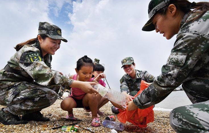 南安海岸线上的女哨兵们:花样青春守家园