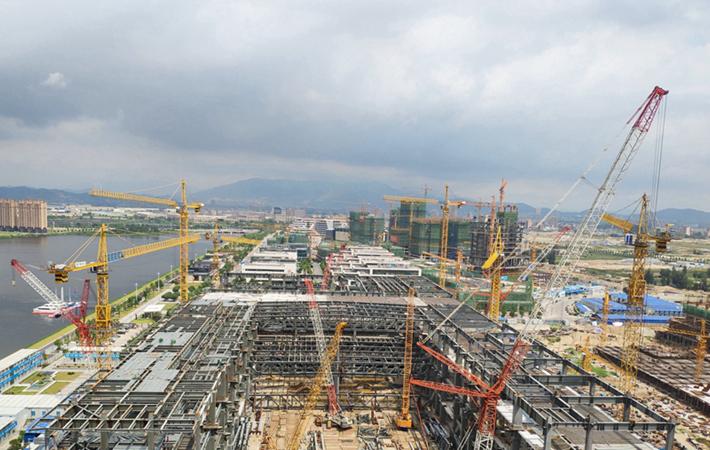 福州数字中国会展中心月底钢结构封顶 预计明年3月建成