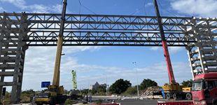 """""""福建第一跨""""钢结构桁架顺利吊装完成"""